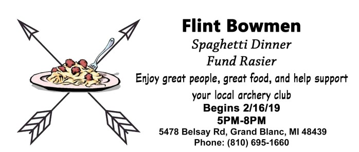 Flint Bowmen Spaghetti Dinner