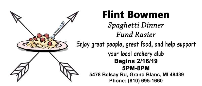 Flint Bowmen Spaghetti Dinner