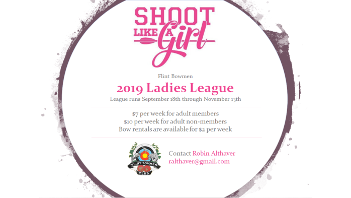 Flint Bowmen 2019 Ladies League