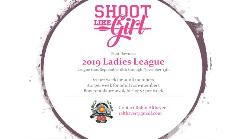 Flint Bowmen 2019 Ladies League